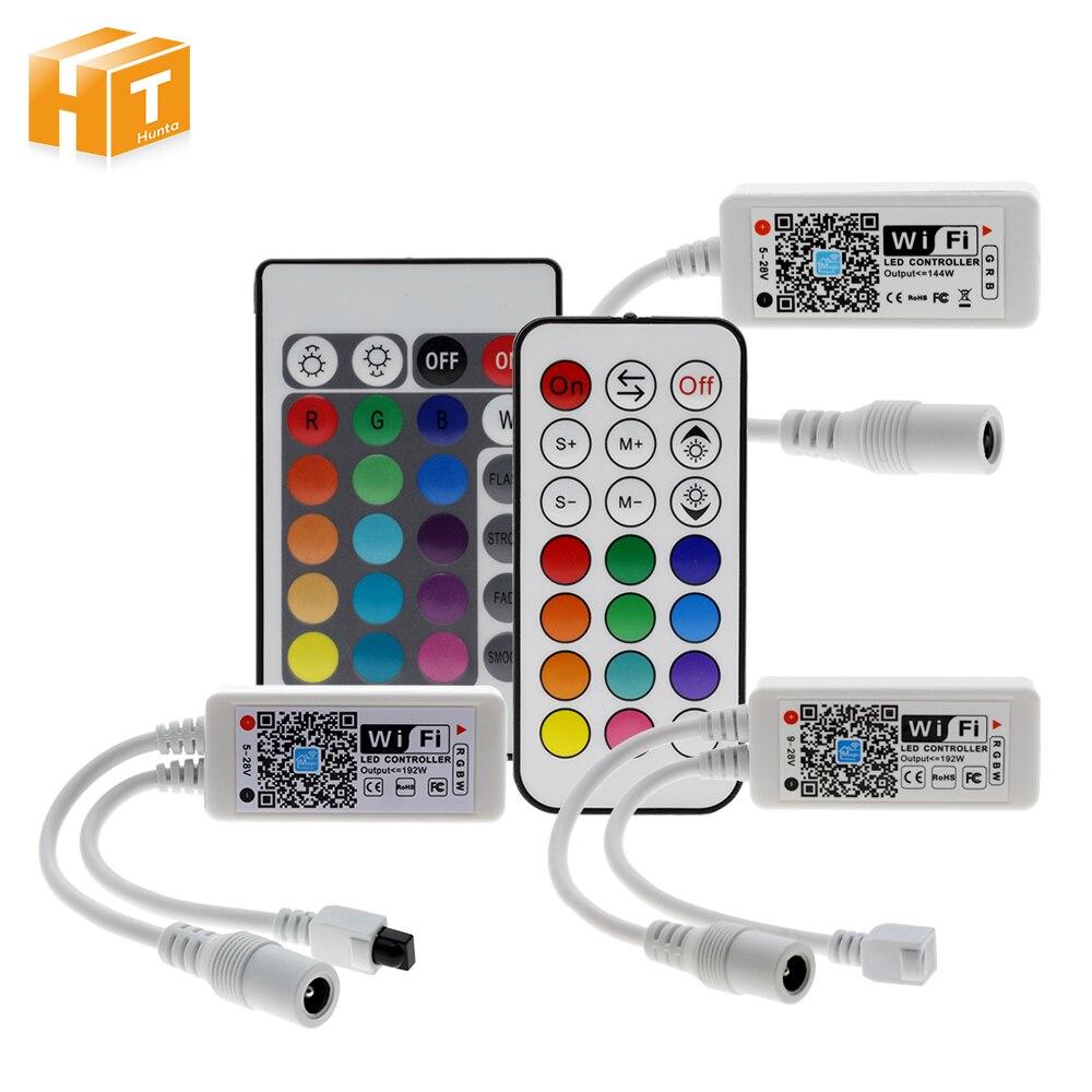 Wifi/RGB/RGBW LED Controlador Mini DC12V con RF 21Key/IR 24Key para Control remoto RGB/RGBW luces de tira de LED