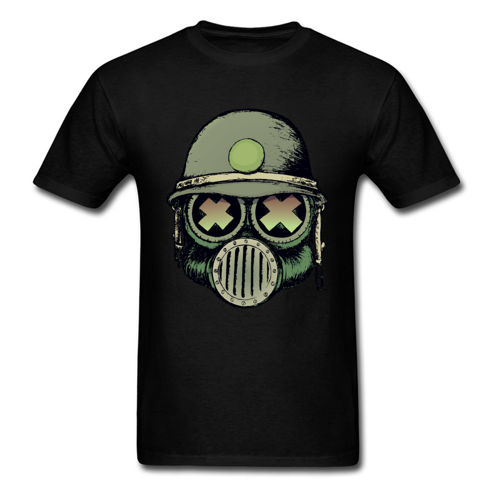 Gas Mask Skull Mens Black T Shirt Carefully Selected Materials T-shirts