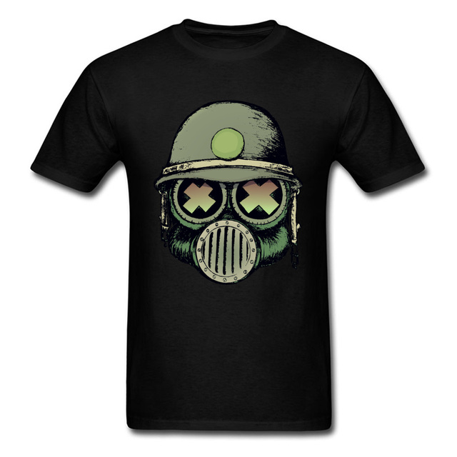 gas mask war skull funny 2018 customized man s tees cotton tops