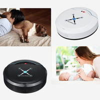 Auto Vacuum Cleaner Robot Cleaning Home Automatic Mop Dust Clean Sweep black