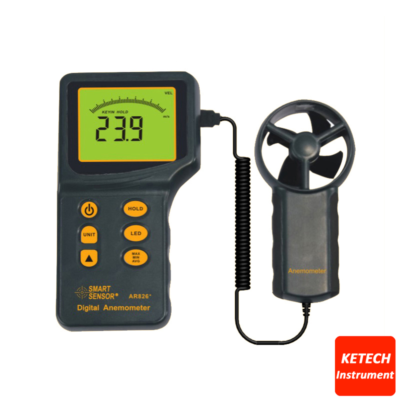 AR826 Anemometer Air Flow Meter Wind Speed Gauge lm 81am anemometer meter lutron new lm81am