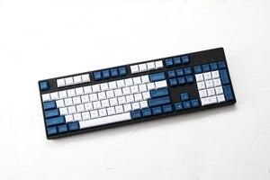 Image 2 - Dsa pbt haut imprimé légendes blanc bleu Keycaps gravé au Laser gh60 poker2 xd64 87 104 xd75 xd96 xd84 cosair k70 razer blackveuve
