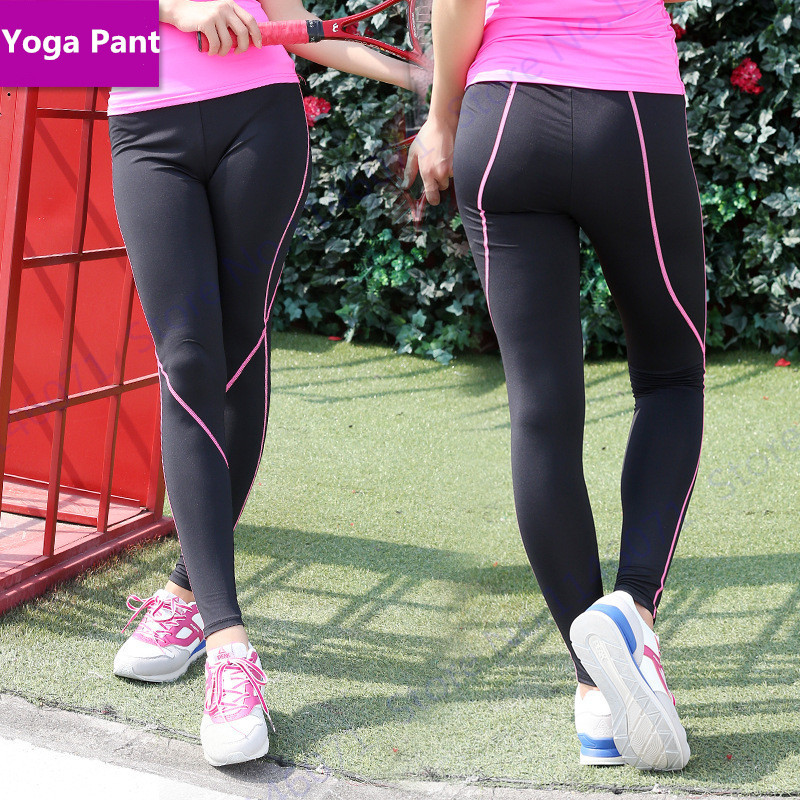 Slim Fit Compression Yoga Tights Black High Waist Ladies Ankle Leggings Super Stretchy Sports Running Trouser Sexy Training Pant Yoga Tights Yoga Pants Compresssuper Tight Yoga Pants Aliexpress