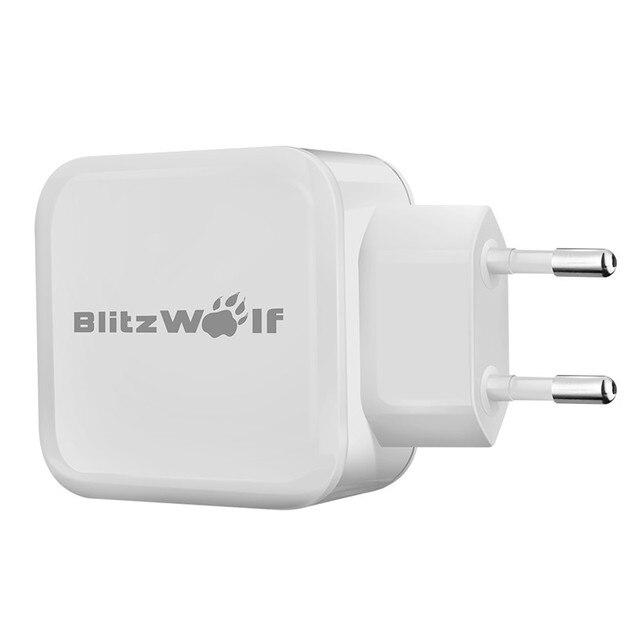 BlitzWolf 4.8A 24 W Smartphone Carregador Dual USB Adapter Universal Travel Recados UE Com Power3S Tecnologia Para o iphone Para Samsung