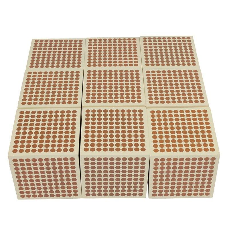 Montessori matériel éducatif pour enfants enfants jouets 9 mille Cubes en bois