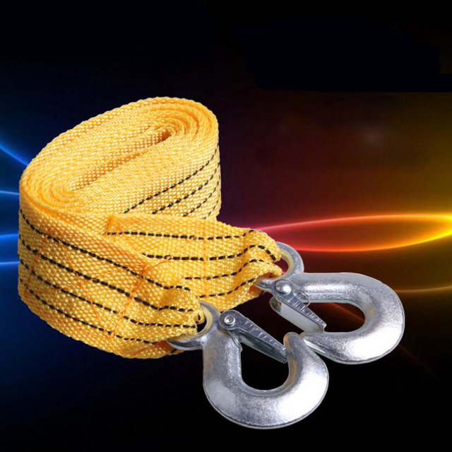 Freeshipping thickening 3.5 meters trailer rope car towing rope pulling rope trailer belt off-road auto accessories trailer hook