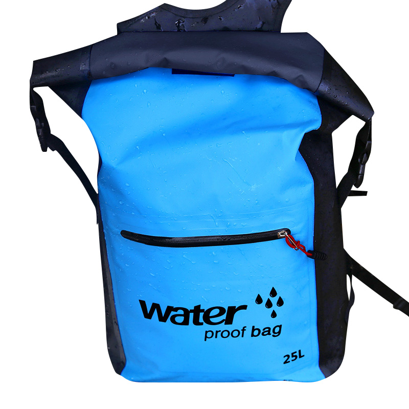 Waterproof Backpack with Padded Laptop Sleeve for Travel Cycling Camping Hiking Rafting YS-BUY image