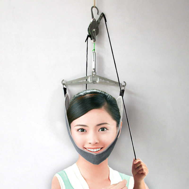 Cervical Traction Over Door Neck Massager Device Kit Neck
