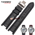 TANNEW notch leather watchband men's butterfly buckle strap leather strap watch bracelet applicable gc 22X13MM 20X11MM