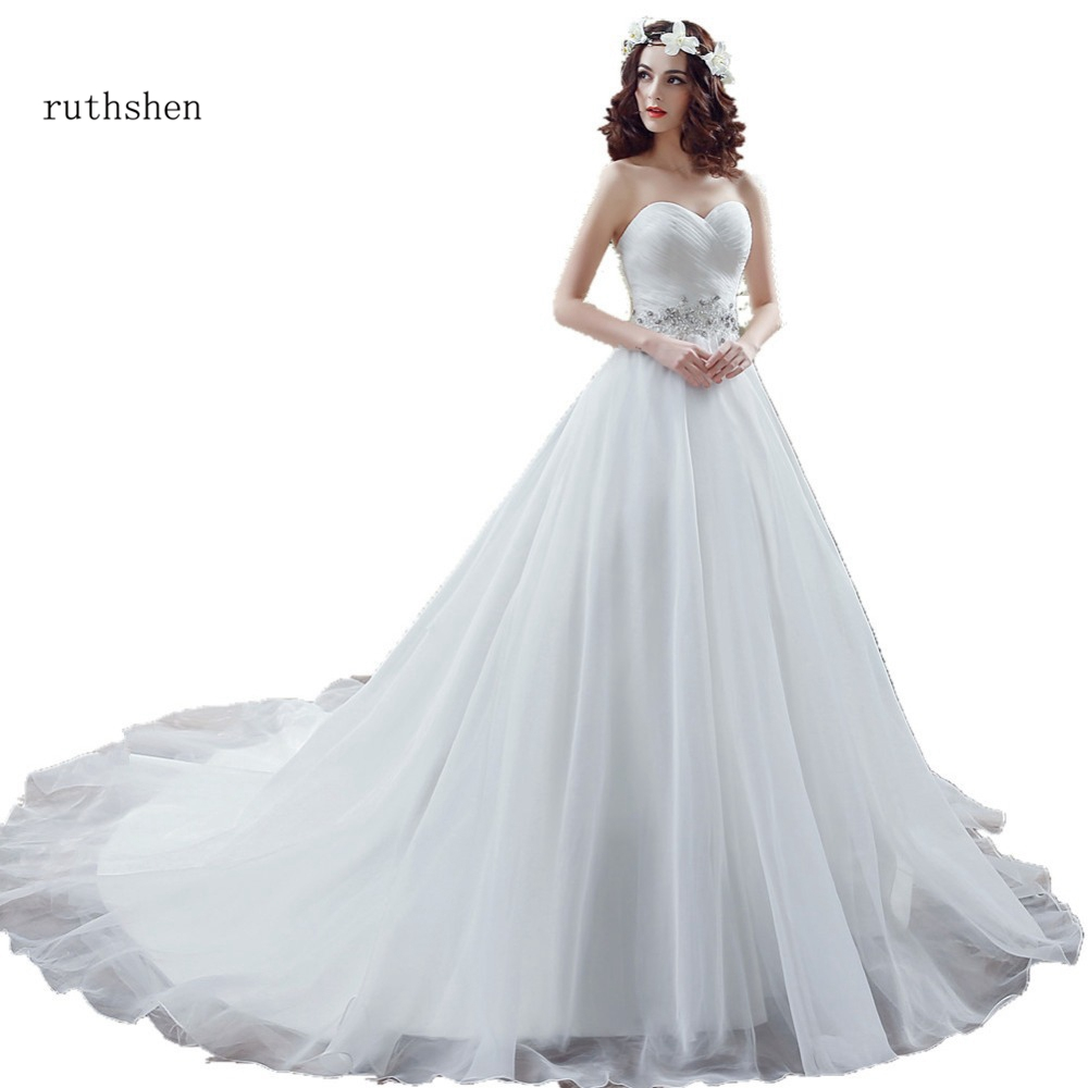 Cheap Wedding Dresses Under 500: Fashion Real Photo Wedding Dresses Cheap Sweetheart Pleats