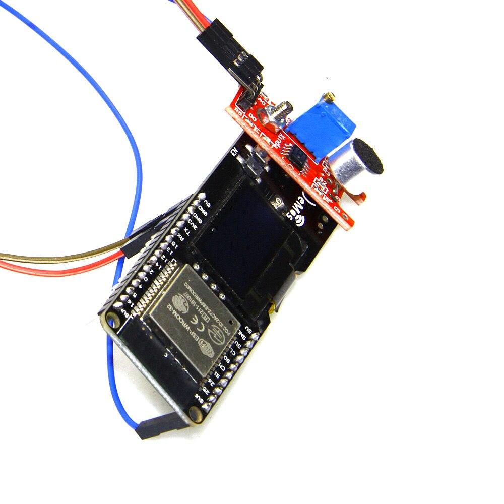 TTGO ESP32 0 96 OLED Microphone module Music Spectrum