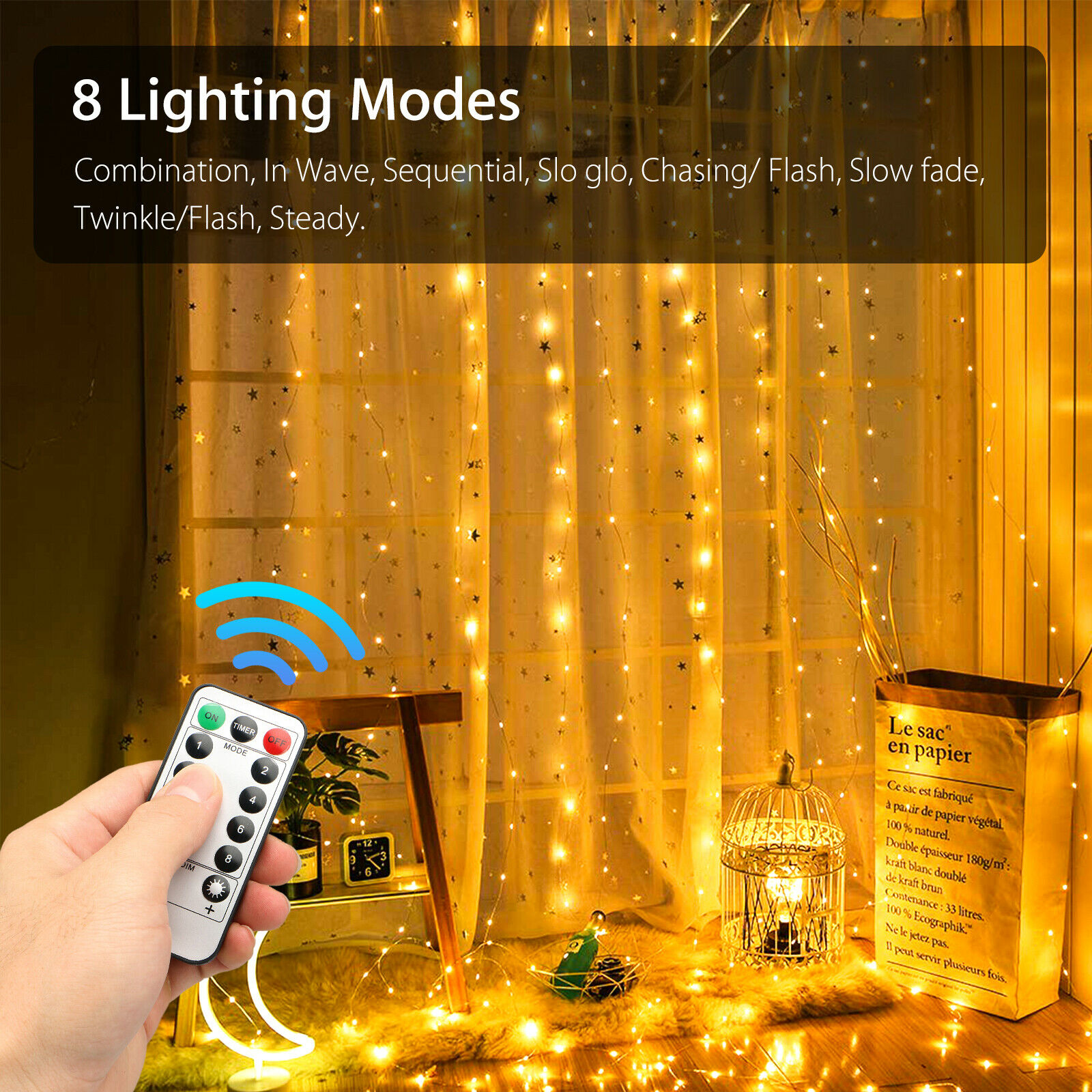 300leds USB Fairy Led String Light For Christmas Party Garland Curtain Wedding Decoration Twinkle Lights With Remote Control