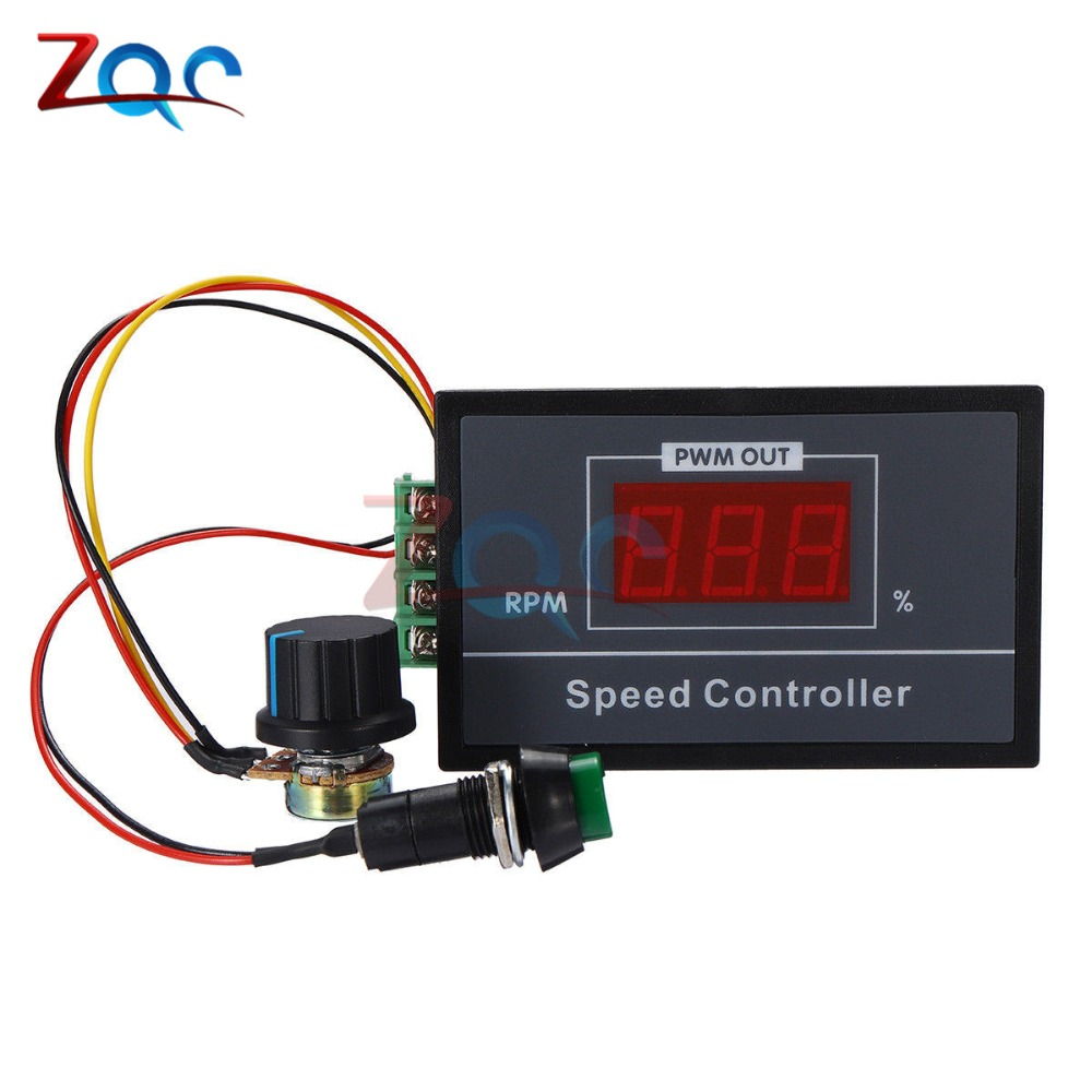 где купить 30A DC 6V 12V 24V 48V LED Digital Display PWM 0~100% adjustable Voltage Regulator Motor Speed Controller W/ Potentiometer Switch дешево