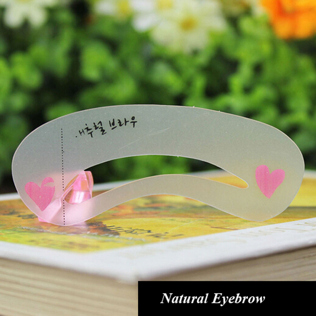 3 Pieces/pack Durable Eyebrow Stencil Eyes Makeup Clear Eye Brow Drawing Template Assistant Card Brow Shaping Model for Beginner 1