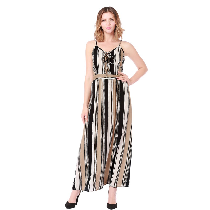 Women Summer Long Dress V-neck Print Sleeveless Dress Casual Sexy Slim Beach Holiday Travel Maxi Dresses Vestidos H7