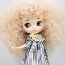 ICY Neo Blythe Doll Blonde Afro Hair Jointed Body 30cm