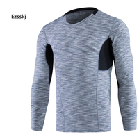 Men Sports Pro Underwear Compression Base Layer Tops Long Sleeve Athletic Shirts Tights T Shirts