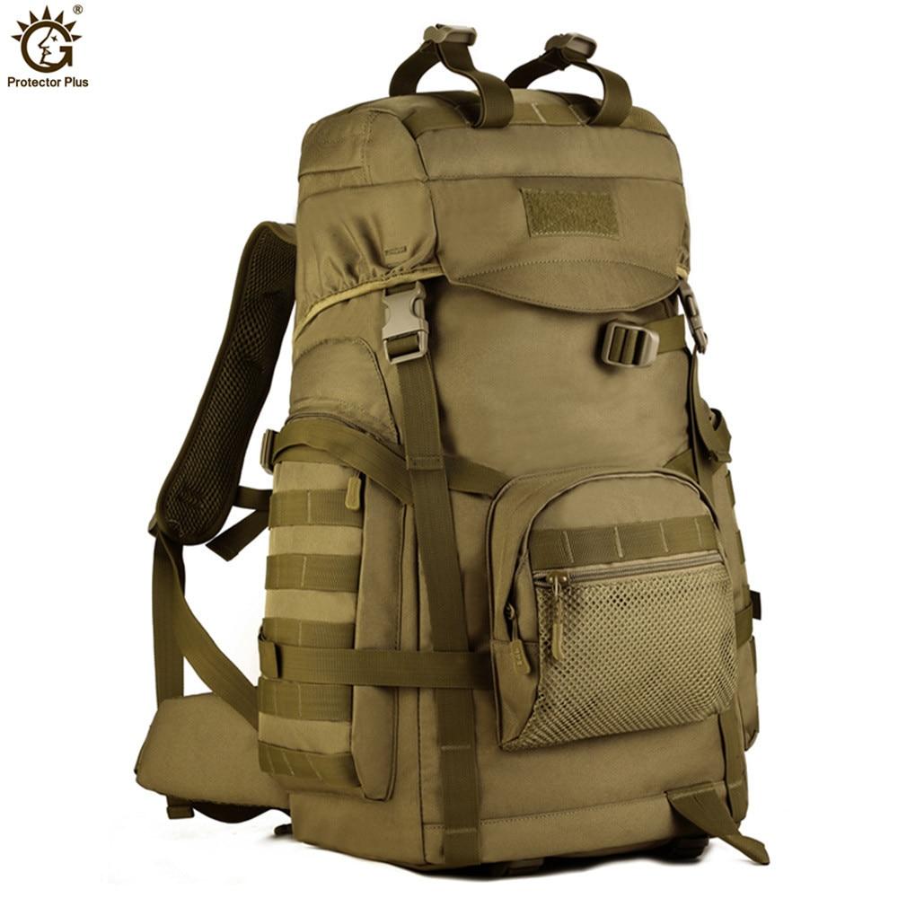 60L Molle haute capacité hommes tactiques militaires sac à dos femmes imperméable Camp randonnée sac sacs à dos sacs à dos armée sac G120-in Sacs à dos from Baggages et sacs    1