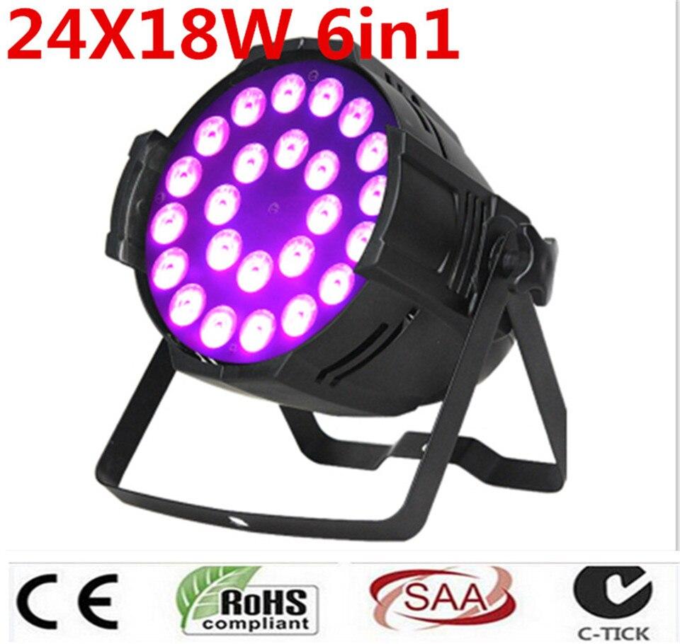 24x18 W RGBWA UV 6in1 DMX LED Par LED de Lujo los dere dj iluminacion 6in1
