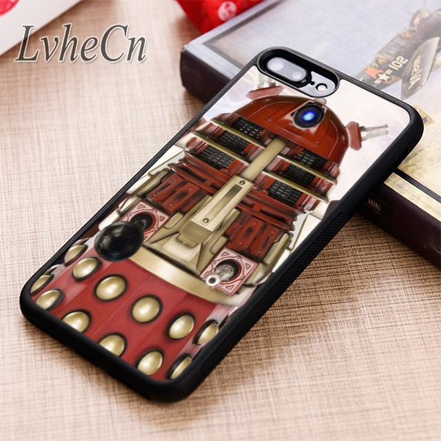 Fitted Cases Reliable Lvhecn Red Dalek Doctor Who Character Phone Case Cover For Iphone 6 6s 7 8 X Xr Xs Max 5 5s Se Galaxy S5 S6 S7 Edge S8 S9 Plus Limpid In Sight