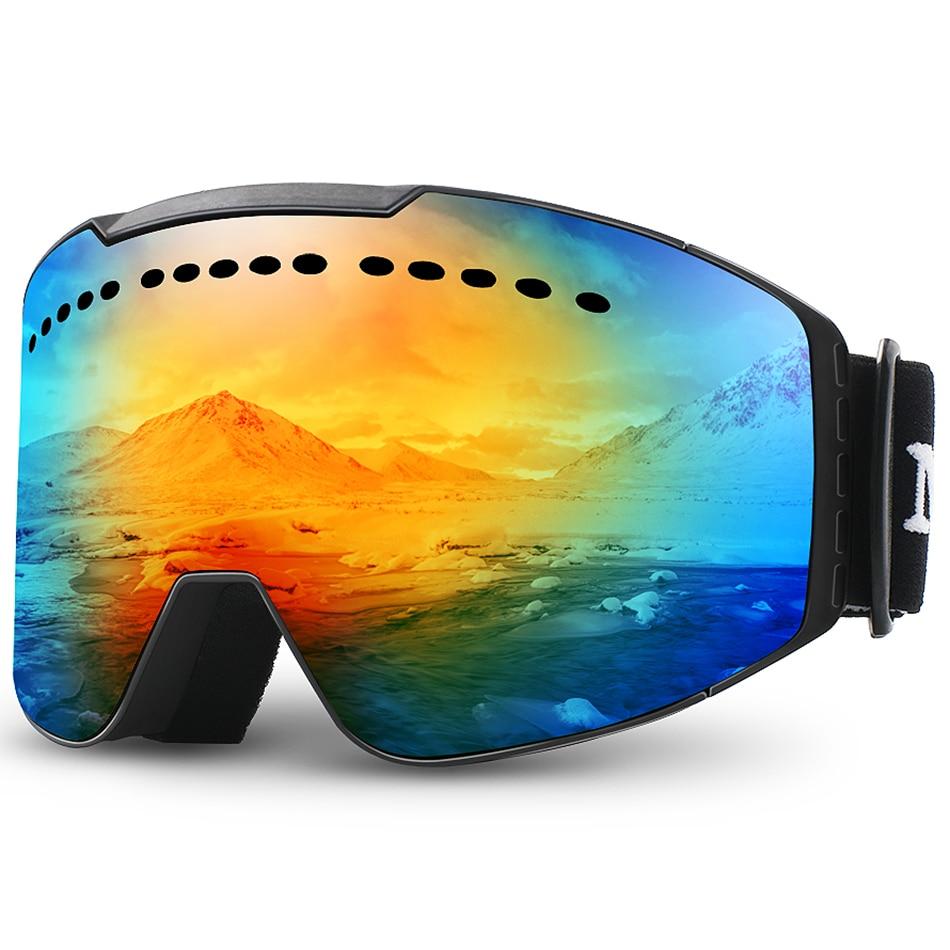 MAXJULI лыжные очки с УФ-защитой, противотуманные снежные очки для мужчин и женщин, Молодежные Очки для плавания M2