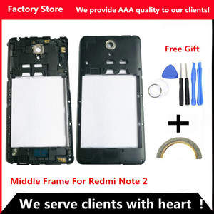 Q&Y QYJOY AAA Quality Middle Frame For Xiaomi Redmi Note 2 Middle Frame Housing Cover