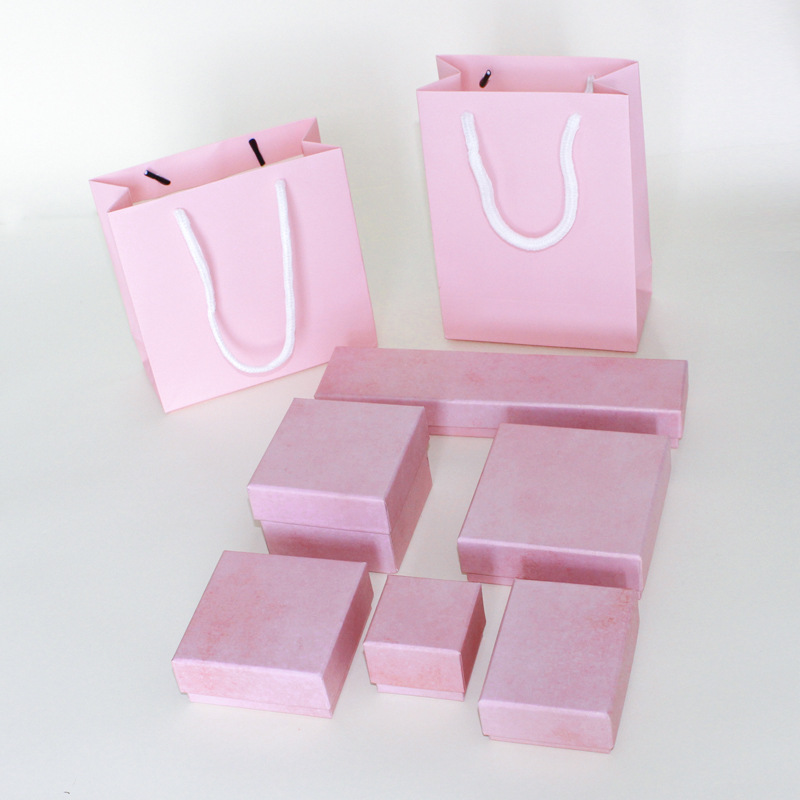 Jewelry Box 12 Pcs/lot Wholesale High-end Pink Paper Favour Gift Box Vintage Design Necklace/Ring/Earrings/Bracelet