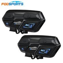 Fodsports 2 шт M1-S Pro мотоциклетный шлем внутреннее соединение гарнитуры 8 Райдер 2000 M домофон водонепроницаемый переговорные