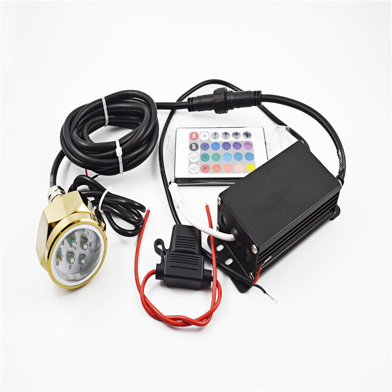 Image 2 - Waterproof IP68 27W RGB Boat Drain Plug Light 9 LED Boat Light Underwater Boat Lamp with Remote Controller-in Marine Hardware from Automobiles & Motorcycles