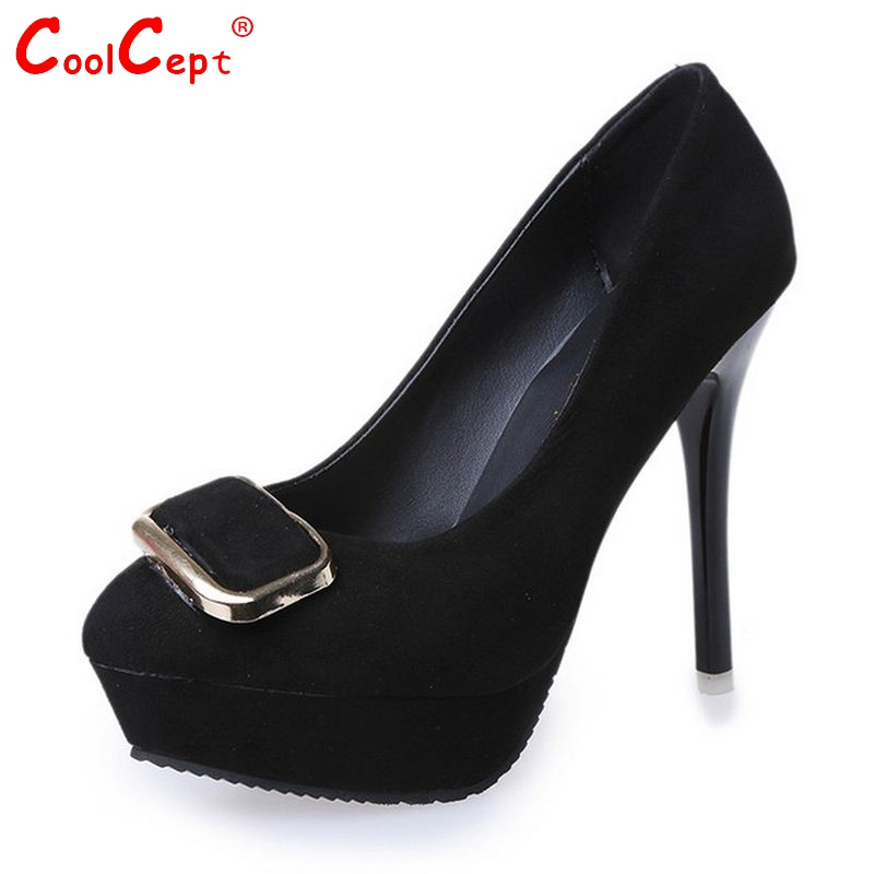 New font b Women b font Platform High Heel Shoes font b Woman b font Appliques