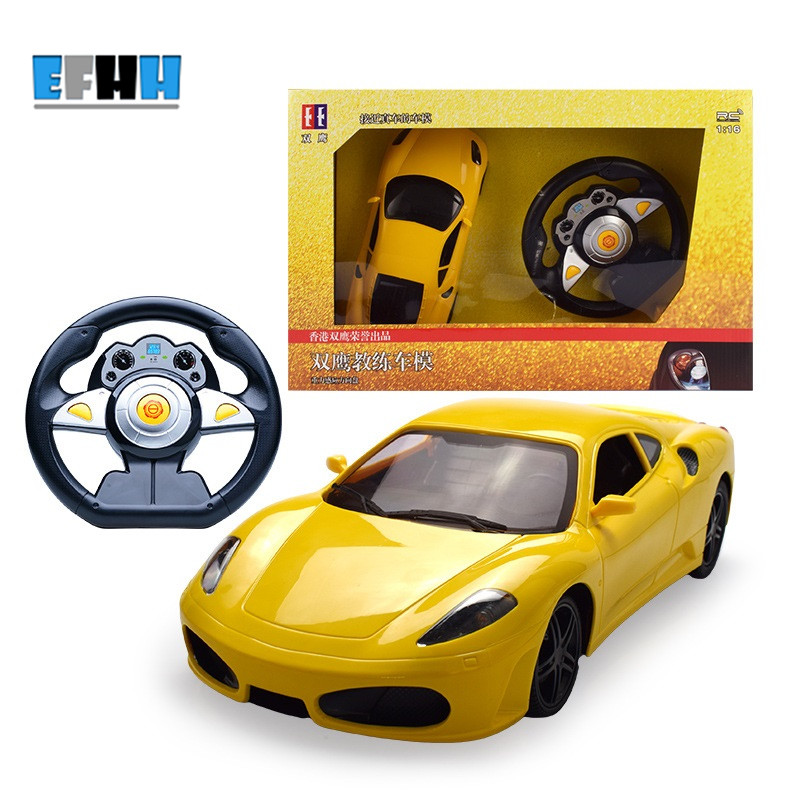 1:16 Wireless Simulation Driver Steering Wheel F430 Remote Control Car Children Toy RC Car 1pc j391 80mm diameter rubber wheel 1 16 simulation separable model car wheel remote car plastic hub free shipping russia