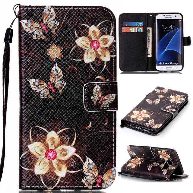 For Coque Samsung Galaxy S7 edge SM-G935A SM-G935F SM-G9350 Case Wallet Silicone Phone Case For Samsung Galaxy S7 SM-G930A G9300