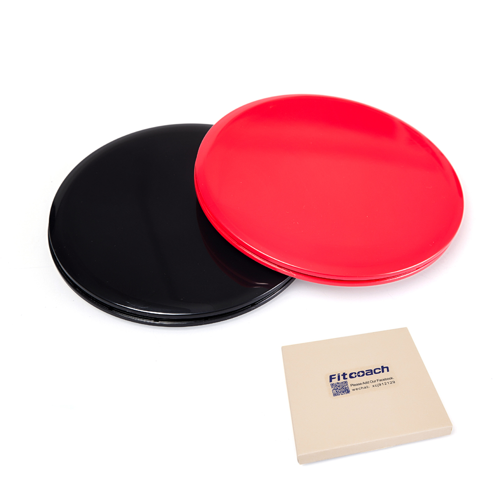 Gliding Discs Core Sliders. Dual Sided Use On Carpet Or Hardwood Floors.  Abdominal Exercise