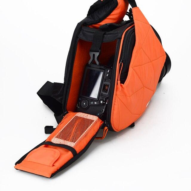 Sling Shoulder Cross Camera Bags Orange Digital Camera Case Sling Canvas Soft Men Women Bag for Canon Nikon Sony