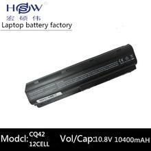 10400MAH battery for HP PAVILION DM4 DV3 DV5 DV6 DV7 G4 G6 G7 G72 G62 G42 for Compaq Presario CQ32 CQ42 CQ43 CQ56 CQ62 CQ72 MU06 аккумулятор для ноутбука hp pavilion dv3 2000 dv3t 2000 dv3 2100 dv3 2200 dv3 2300 compaq presario cq35 100 cq35 200 cq36 100 series 4400мач 11 1v topon top dv3t