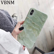 New Emerald Green Marble Silicone Phone Case for iPhone X XR XS MAX Glossy Fashion 8 7 6s 6 8Plus 7Plus Cover