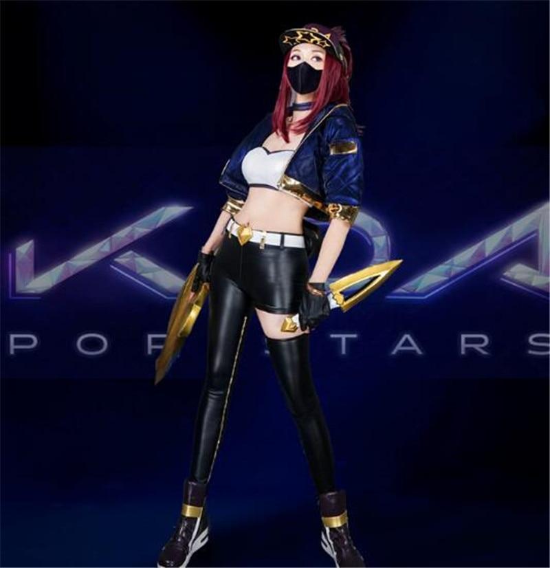 2019 KDA Akali LOL Idol singer new skin kda akali cosplay costumes Akali Jacket