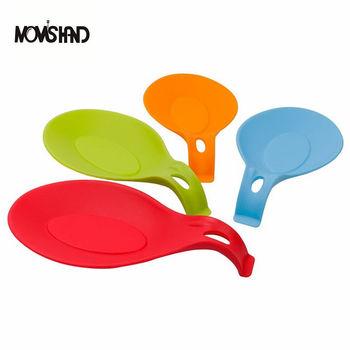4Pcs/set Silicone Spoon Tray Non-Slip Heat Resistant Mat Kitchen Tools