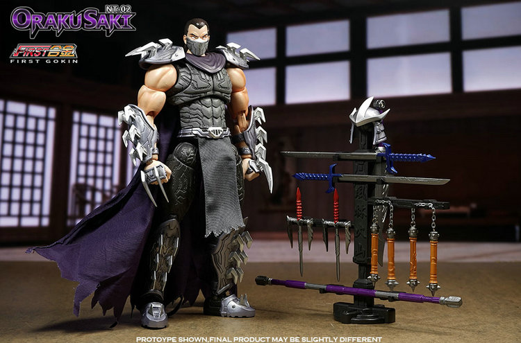 First Gokin Alloy Ninja Turtles Villain Boss Utrom Shredder Action Figure Model Toy Include Weapons 9.5inch new arrival anime naruto kunai japanese ninja cosplay weapon props boy great gift alloy metal toy ninja turtles gift decor genji