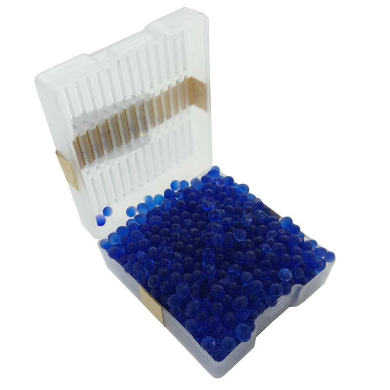सिलिका जेल बॉक्स 1 pc पुन: प्रयोज्य सफेद ऑरेंज ब्लू सिलिकागेल नमी को अवशोषित अवशोषक Desiccant बॉक्स रंग बदलते संकेत