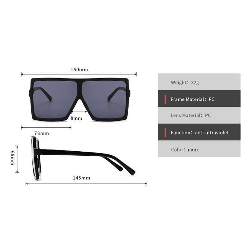 Большая оправа, градиентные негабаритные солнцезащитные очки, квадратные брендовые дизайнерские винтажные женские модные солнцезащитные очки Oculos De Sol UV400
