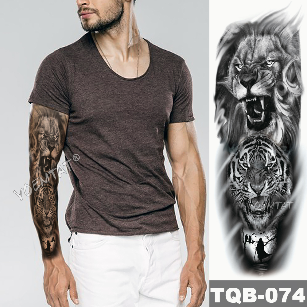 Aliexpress.com : Buy Large Arm Sleeve Tattoo Owl Hands Clock ...