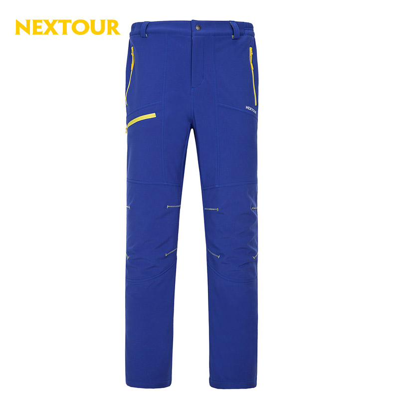 NEXTOUR Outdoor pants  Winter Men Softshell Pants   Thermal windproof Trousers with fleece Waterproof Hiking Trekking Camping
