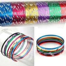 50pcs/Lot Colorful Loop Bracelet Thin Circle Dance Bangle Chromatic Aluminum Charm Cuff For Children Wholesale