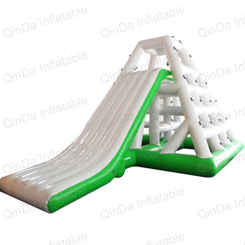 Inflatable water game inflatable floating water slide inflatable pool water slide children shark blue inflatable water slide with blower for pool