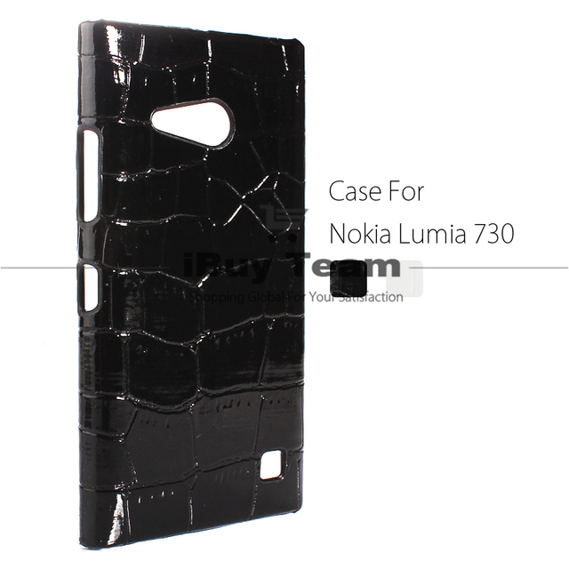 check out 17cfc b637e US $3.25 5% OFF|Case for Nokia Lumia 730 Lumia 735 Back Cover Ultra Slim  Crocodile Texture Cell Phone Protective Shell for Lumia 730 Black White-in  ...