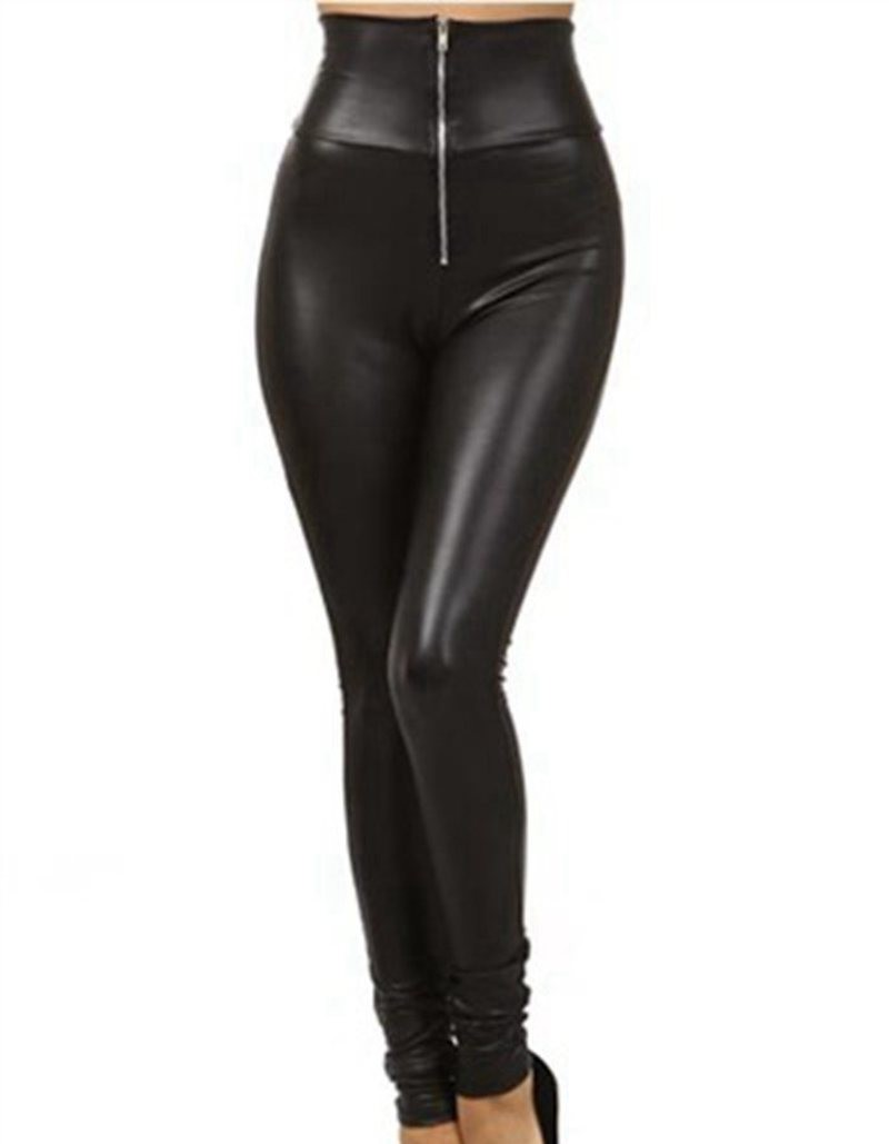 women-high-waist-pencil-leggings-front-zipper-sexy-punk-legging-large-size-fake-leather-fitted-leggings