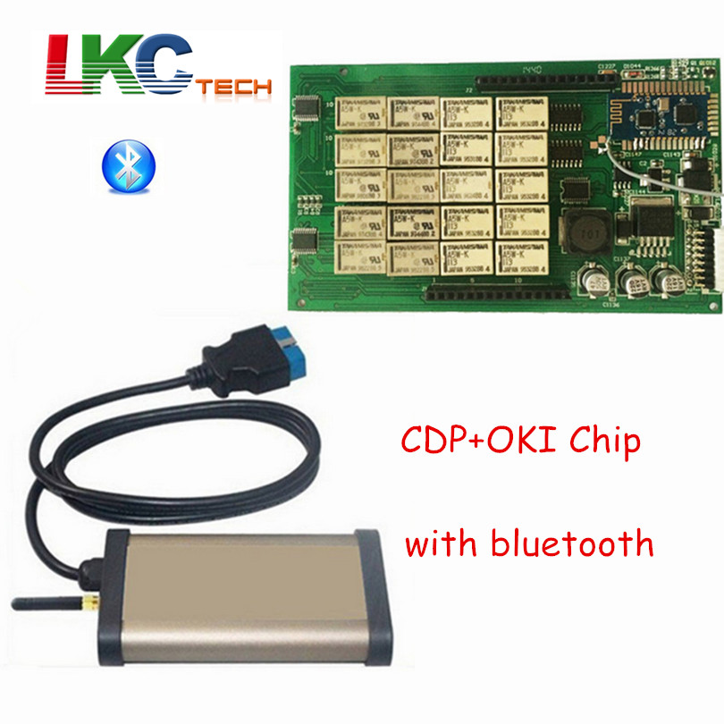3pcs/lot DHL Free Gold CDP +Bluetooth + OKI (M6636B OKI Chip) TCS CDP PRO OBD2 Car Scanner CDP PRO PLUS For Cars/Trucks NEW VCI new arrival new vci cdp with best chip pcb board 3 0 version vd tcs cdp pro plus bluetooth for obd2 obdii cars and trucks