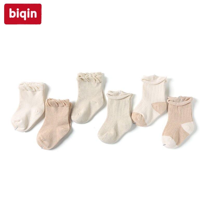 Biqin NB-6M newbaby children kids socks boys girls socks Winte Autumn cotton socks