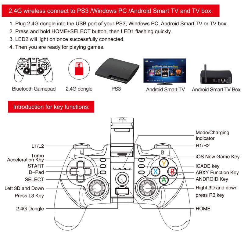 homereally ipega pg 9076 gamepad wireless bluetooth game controller rh aliexpress com manual do playstation 3 em portugues Pagina Em Portugues